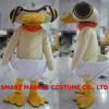 Good ventilation soft plush cartoon weird duck costume for cosplay fit all unisex adult duck costume