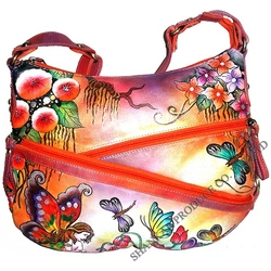 Leather Hand Painted Ladies Bag