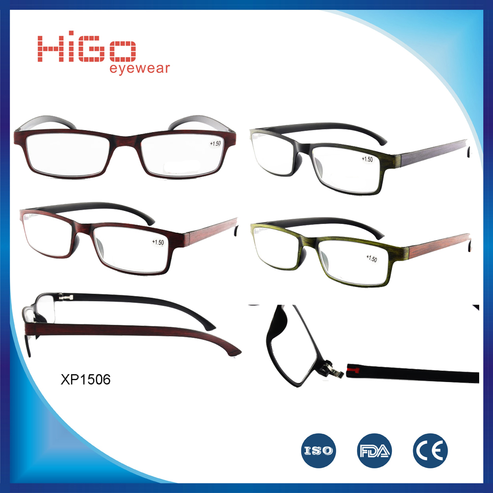 2015 latest new design plastic eyeglass granny reading glasses