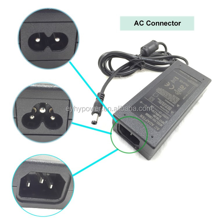 60W YHY Power Adapter YHY-12005000 KC UL CE GS NOM FCC TUV 12V 5Amp AC DC Adapter