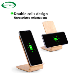 2017 new design special wood portable wireless mobile phone fast charger for all phone models