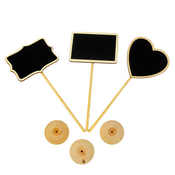 Party Wedding Decorate Tool Wooden Rectangle Heart Blackboards