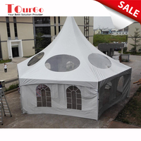 Tourgo Transparent Marquee Wedding Tent Clear Top Pavilion for Luxury Party Ceremony Canopy Outdoor Event