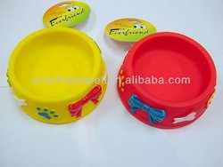 silicone Round Shaped Pet Bowl Made Of Food Grade Plastic