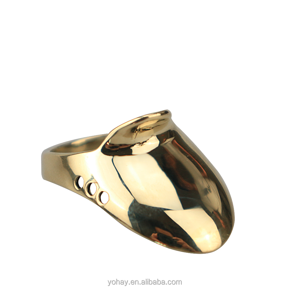 Brass Finger Protector Copper Jadeite Thumb Ring for Pull Bowstring Archery Accessory.