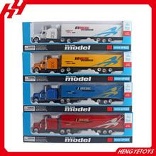 Top selling 1:87 scale American free wheel metal model container diecast truck toy