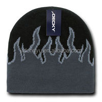 top quality jacquard new flam fire beanie hat
