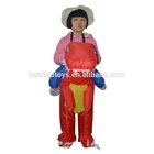 Novelty Inflatable Red Kids Dinosaur Costume for Party for Halloween