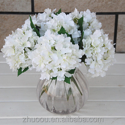 Silk Flowers Artificial Hydrangea Artificial Flower Arrangements Fake Plant in Wholesale Artificial Coral Flowers for Wedding