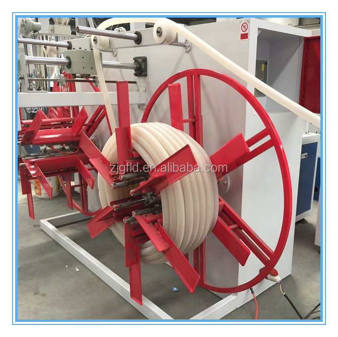 PE PP Single Wall Corrugated Pipe Making Machine