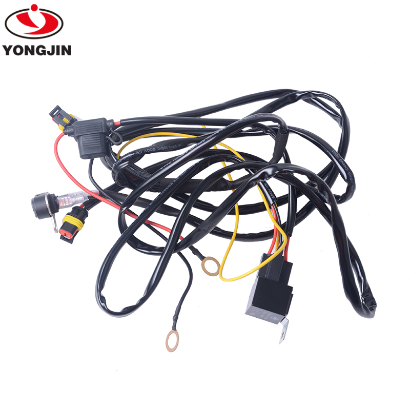 LED Light Bar Wiring Harness Kit for <strong>motorcycle</strong> with Power 40A Relay Fuse ON-OFF Switch