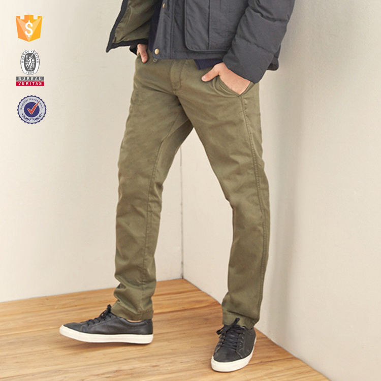 2016 oem customize mens cheap chino khaki pants