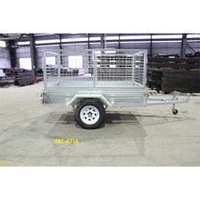 Good quallity galvanized camp cage box trailer