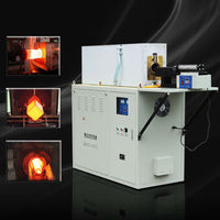 medium frequency rod/billet induction hot forging heater