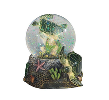 Marine Life Snow Globe with Sea Turtle Statue Figurine,Custom Resin Snow Globe Souvenir Gift