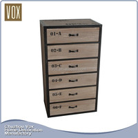 New Customized Antique style home furniture design wooden 6 chest of drawers