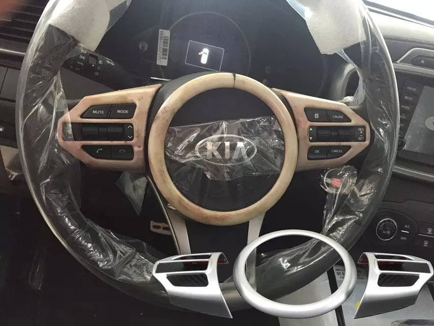 Car accessories ABS chrome steering wheel bright decoration trim for kia 2015 sorento parts