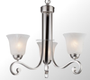 UL&CUL List Sleek Modern 3-Light Chandelier For Bedroom With Alabaster Shade
