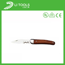 Hardened steel cable stripping electric utility knife