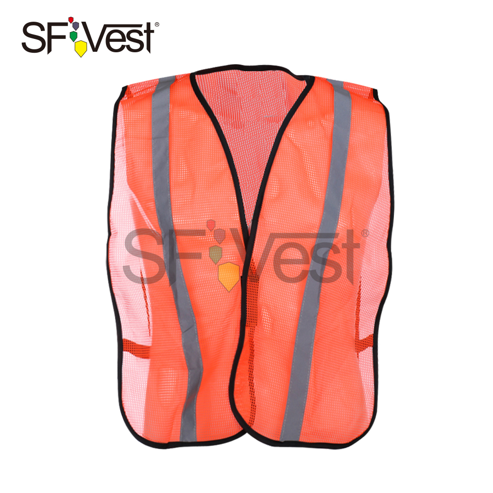 100% Polyester Mesh Orange Hunting Disposable Reflective Safety Straps Vest