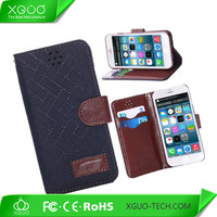 grid parrent leather case for iphone 6 cover
