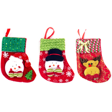 Christmas Stockings Socks For Santa Claus Candy Gift Bag WithChristmas Tree Hanging Decoration
