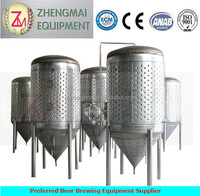 2000L stainless steel SUS304 /SUS316 conical beer fermentating tank / draft beer fermenter