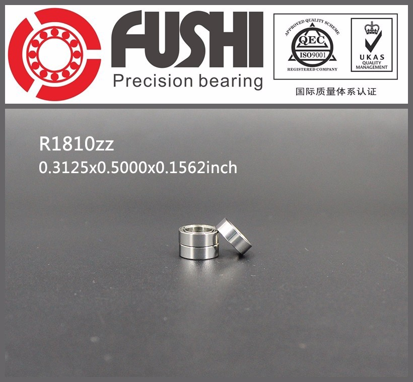 R1810ZZ Shielded Miniature Ball Bearings 0.3125inchx05000inchx0.1562inch R1810zz ABEC-1 Inch Deep Groove Ball Bearing R1810zz