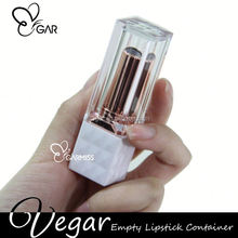 Empty Lipstick Container Rose Gold Square Diamond tube magic lip stick