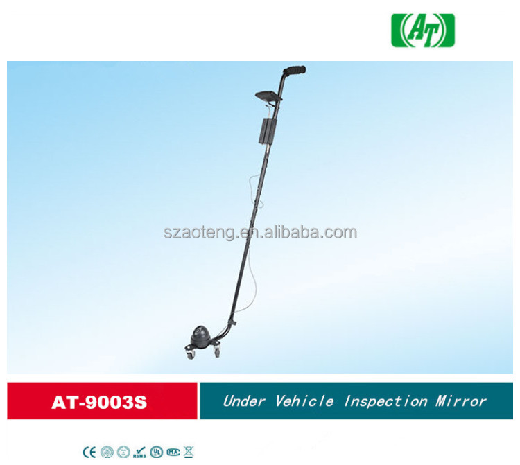 Chinese supplier Under vehicle checking inspection mirror with 3.5 inch LCD for undercarriage safety inspection AT-9003S