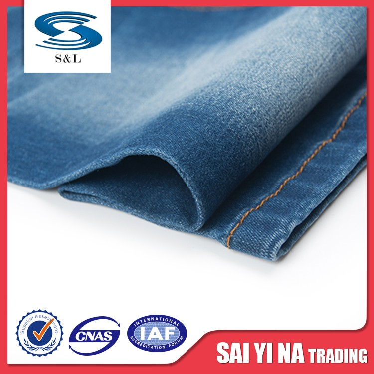 Excellent quality custom design pure cotton printed denim fabrics for sale