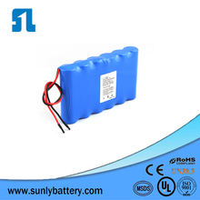 Hot selling rechargeable li-ion battery pack 12v 5000mah battery with Samsung 25r 2500mah battery cell