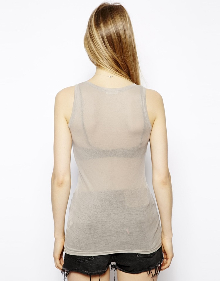 100% pure cotton hot girls sexy tank top for woman