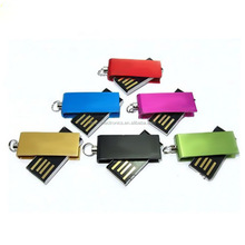 Promotional waterproof metal mini usb flash drive, High Quality Gift 4GB mini swivel usb sticks,CE ROHS FCC PASSED