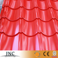 High reputation Brand JNC steel products of colored corrugated roofing sheets and tile with low price