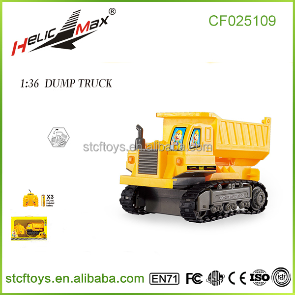 hot new line remote control car 4 channel track simulation engineering plastic dump trucks for sale