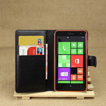 PU Leather flip wallet case cover for Nokia Lumia 625