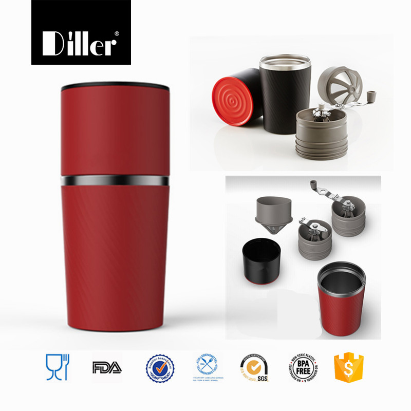 South Korea portable hand drip tumbler all-in-one espresso coffee mug maker