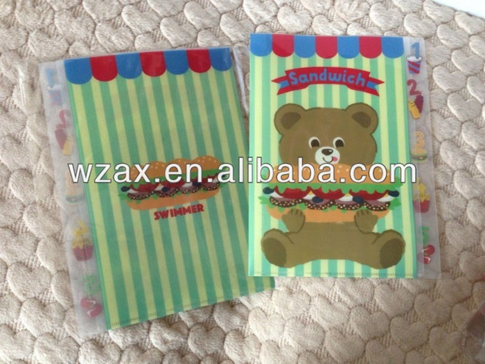 Clear pp material custom print l folder a4 E310 file folder