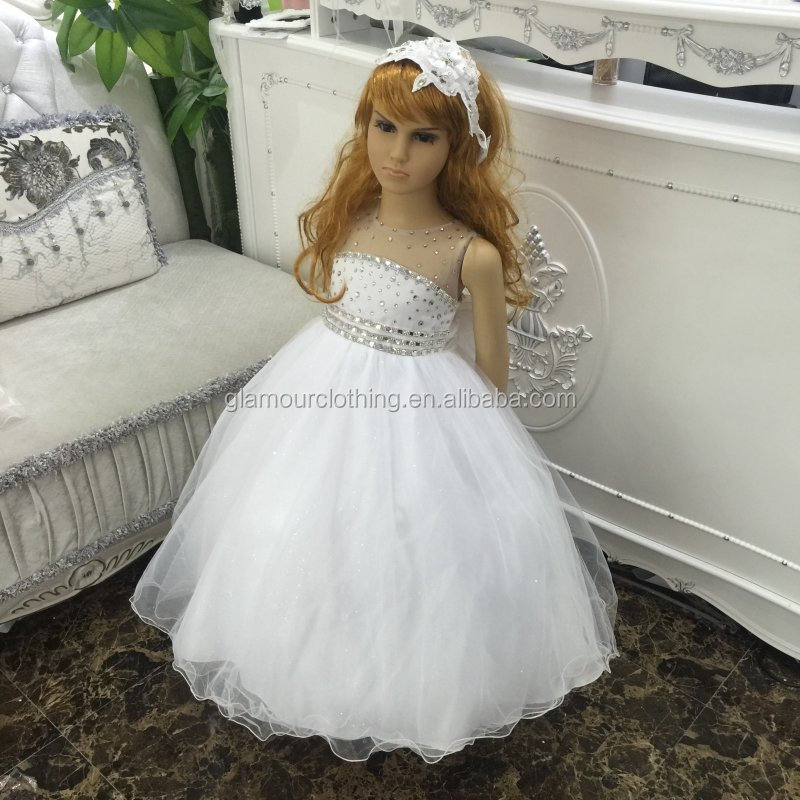 China 2017 high quality export products rhinestone new model girl dress
