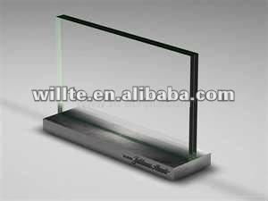 Acrylic table menu stand with led light