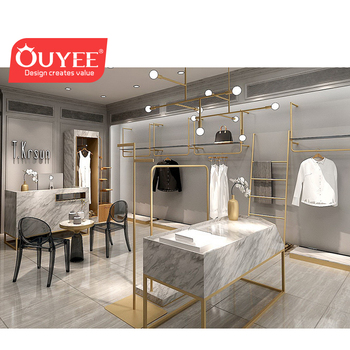 Luxury ladies clothing store furniture/hanging clothes display stand for shop/clothes shop design