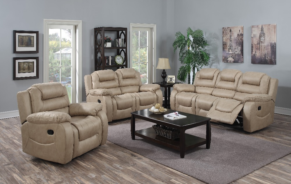 Arabic style soft lifestyle leather living room furniture motion sofa 9737A