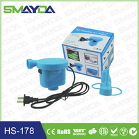 2015 factory price rohs ce ctick electric air pump for vacuum storage bag