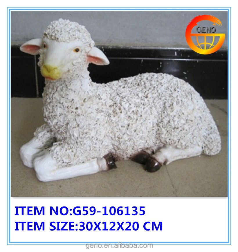 resin sheep outdoor animal statues for sale