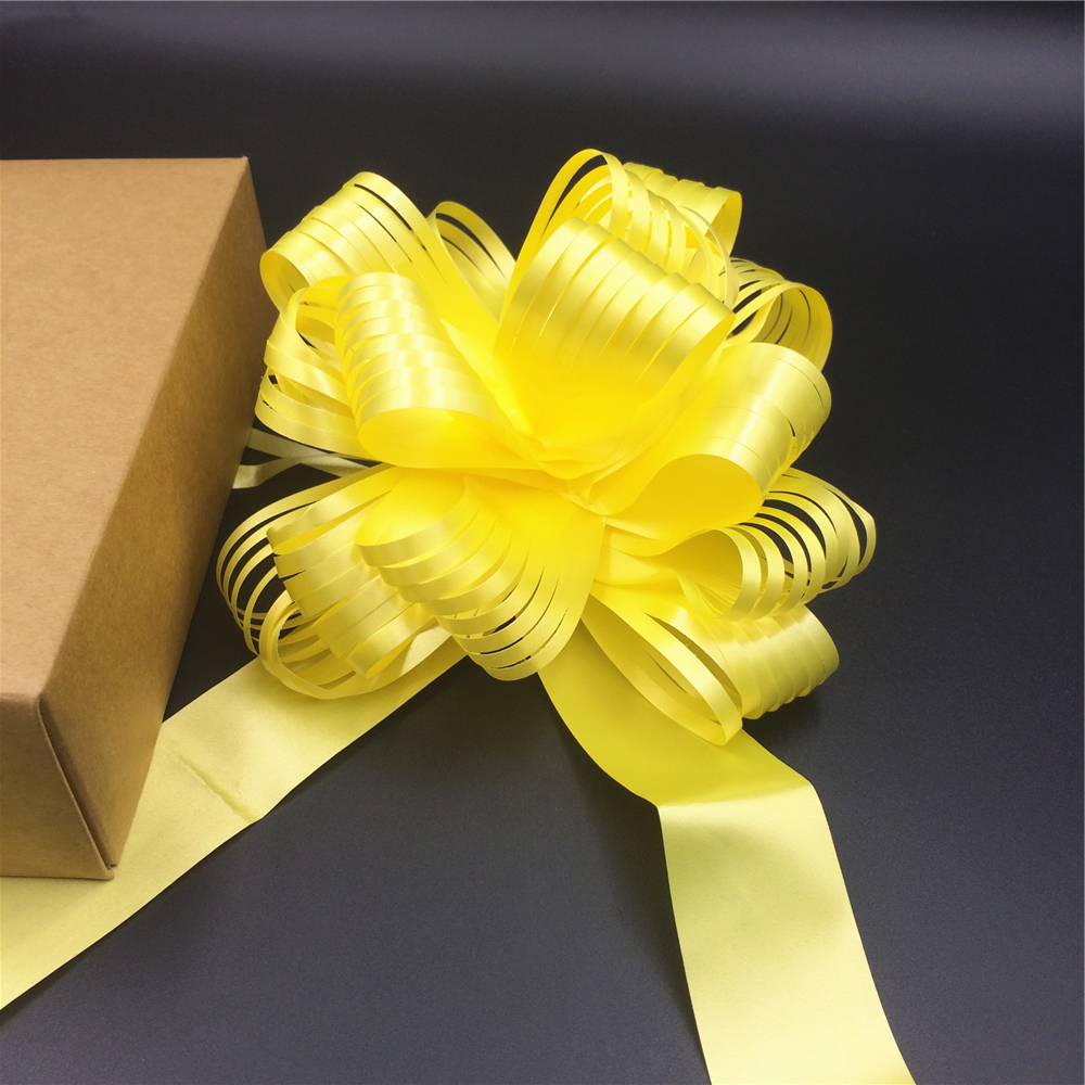 Hot sale pp curly ribbon pull string bows for gift box wrapping