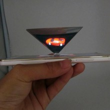 Smartphone 3D holographic projector,Mini Pyramid Hologram for smartphone, 3D Hologram Display OEM logo