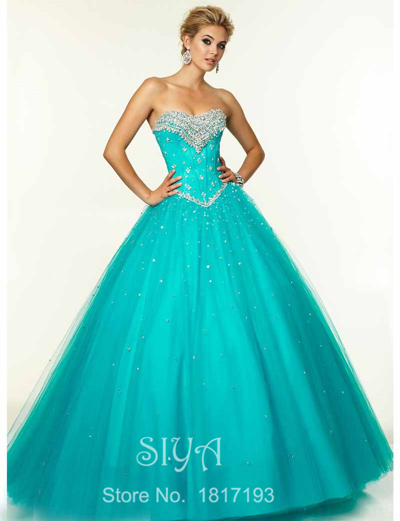 Get Quotations · 2015 New Dress For 15 Years Debutante Vestido Quinceanera  Sweet 16 Dresses Ball Gowns Sky Blue 58dd3a28eb0b