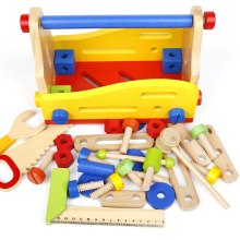DIY construct wooden educational toys for kids fun nut tool box