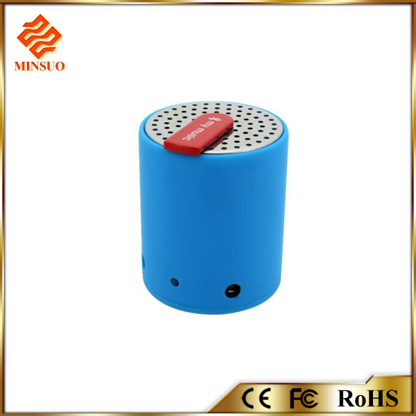 SP-002 mini round wireless bluetooth speakers with CE and RoHs